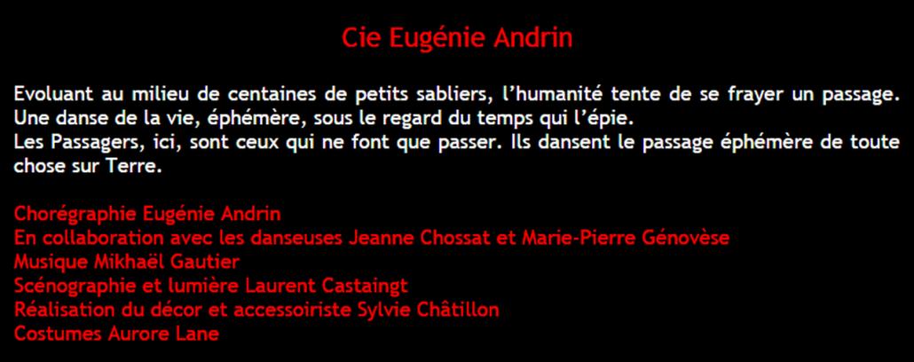 Marie-Pierre Genovese Femmes en scènes 2016