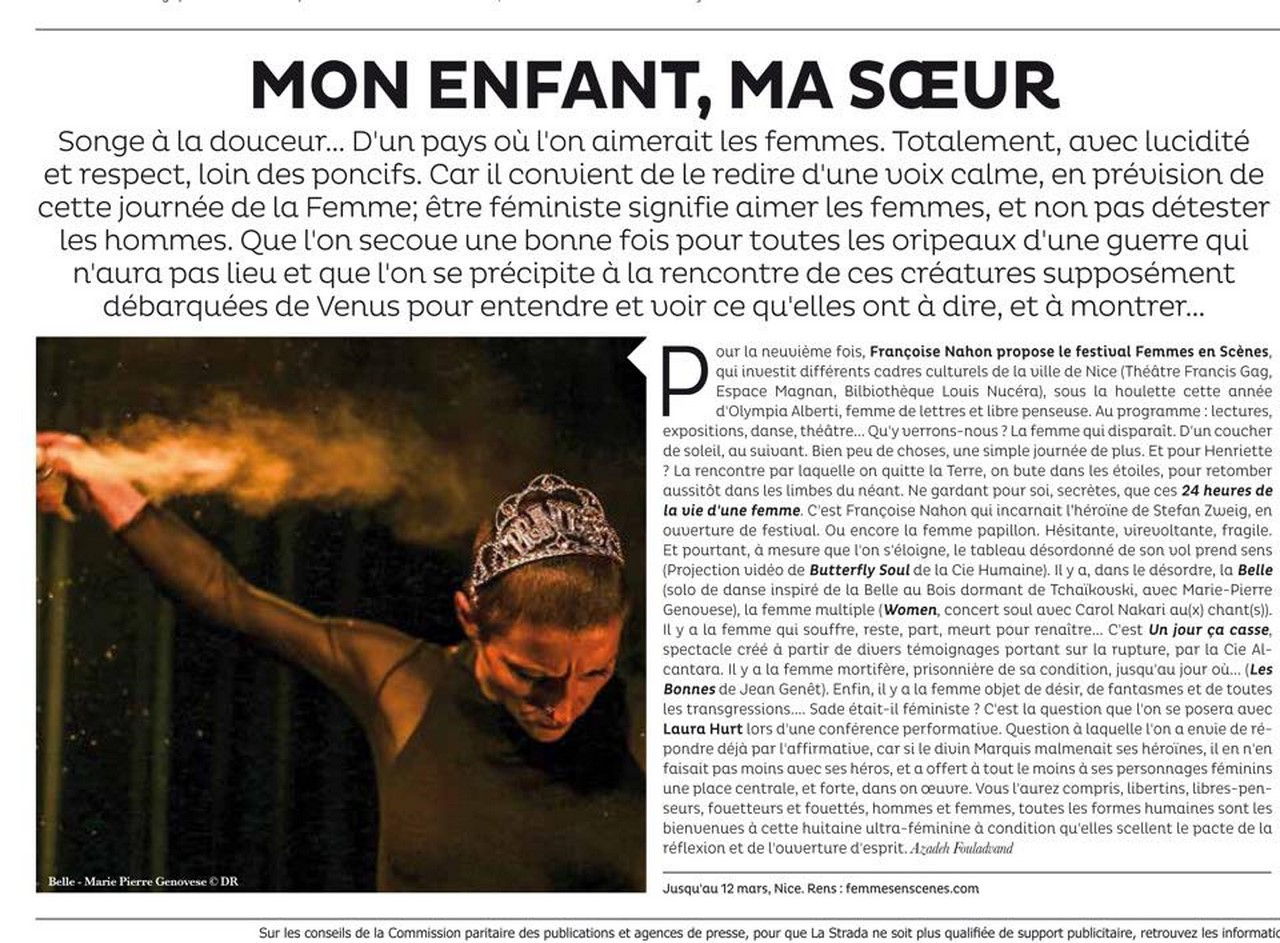 Marie-Pierre Genovese Com Femmes en scènes