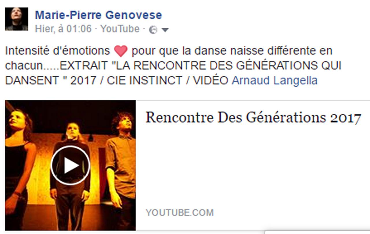 Marie-Pierre Genovese avec générations facebook