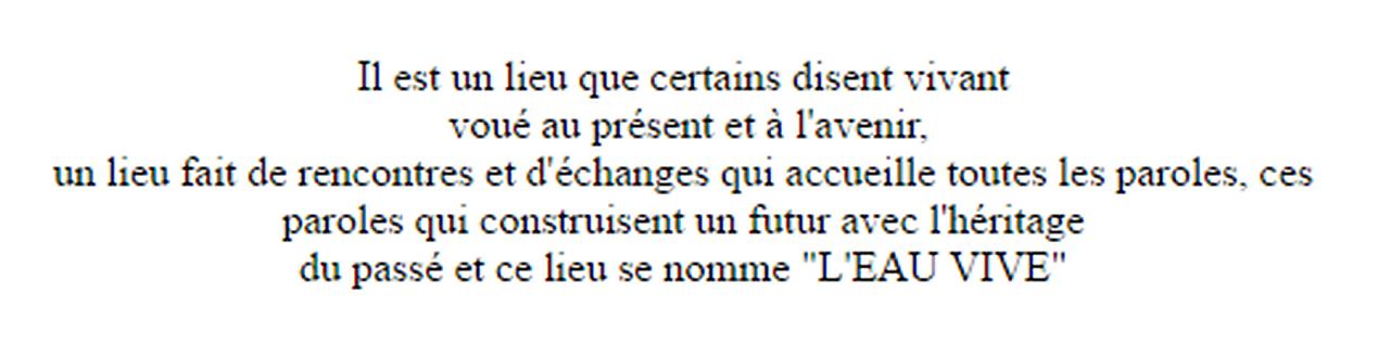 Marie-Pierre Genovese et Eau Vive Women
