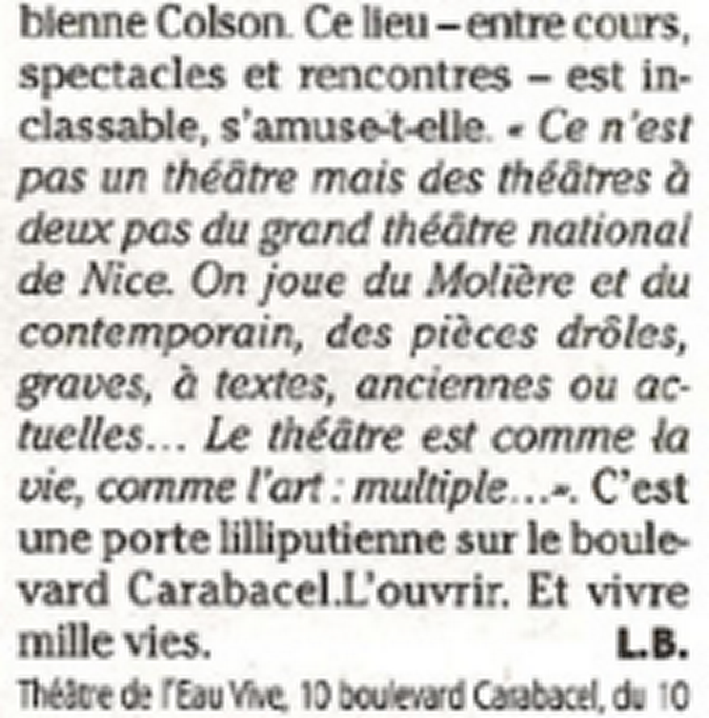 Marie-Pierre Genovese et Colson Fabienne