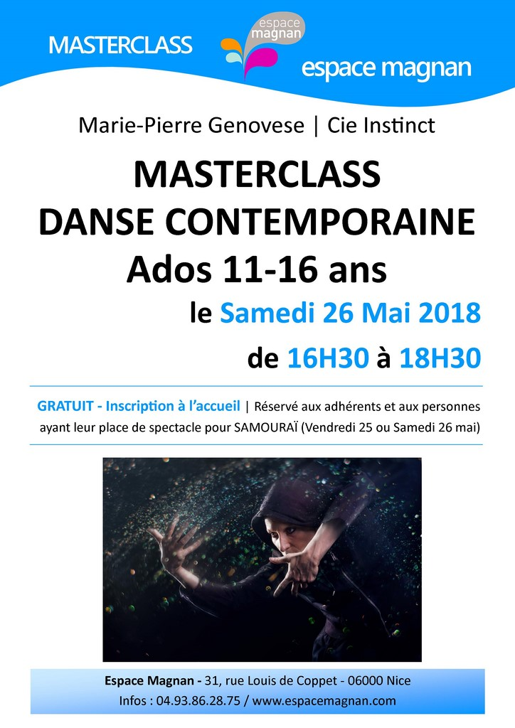 Marie-Pierre Genovese et masterclass Samouraï