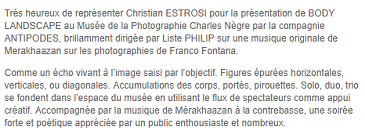 Marie-Pierre Genovese Bodylandscape et Robert Roux
