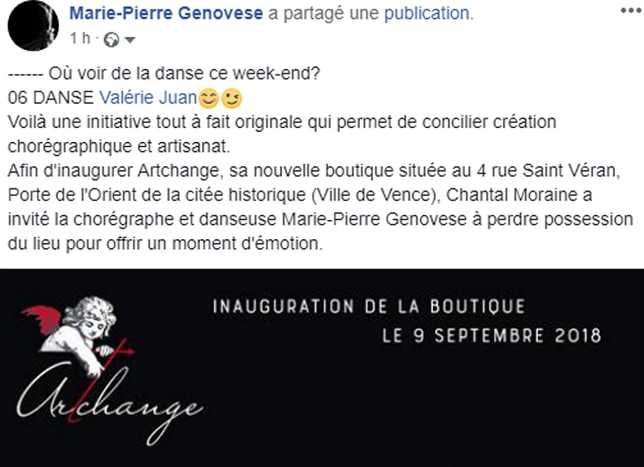 Marie-Pierre Genovese et Archange rajout