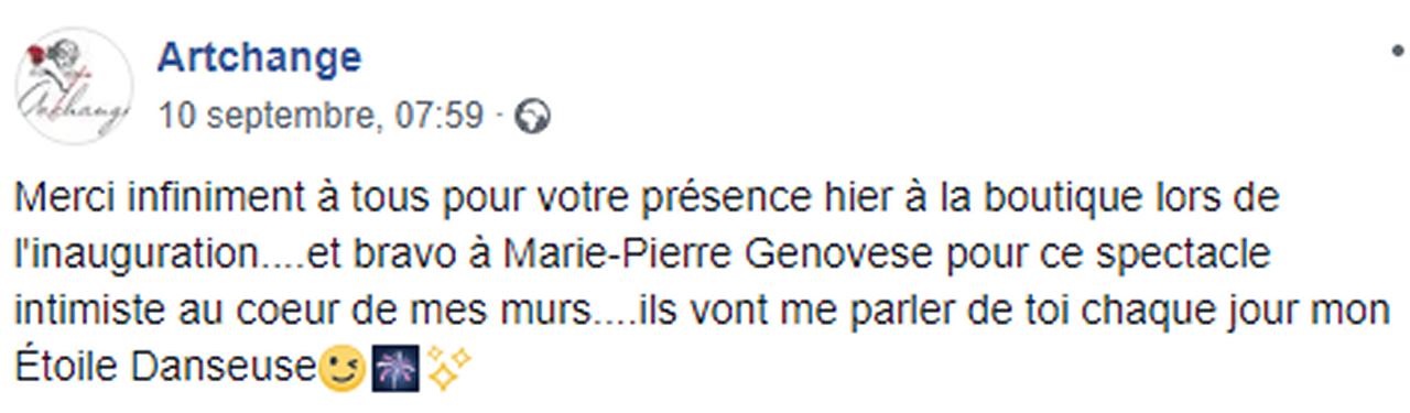 Marie-Pierre Genovese et Artchange commentaires