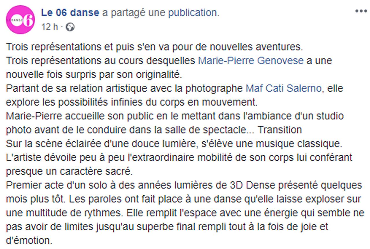 Marie-Pierre Genovese Au nom du corps 06 Danse