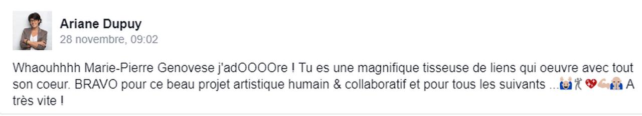 Marie-Pierre Genovese Improdanse commentaire