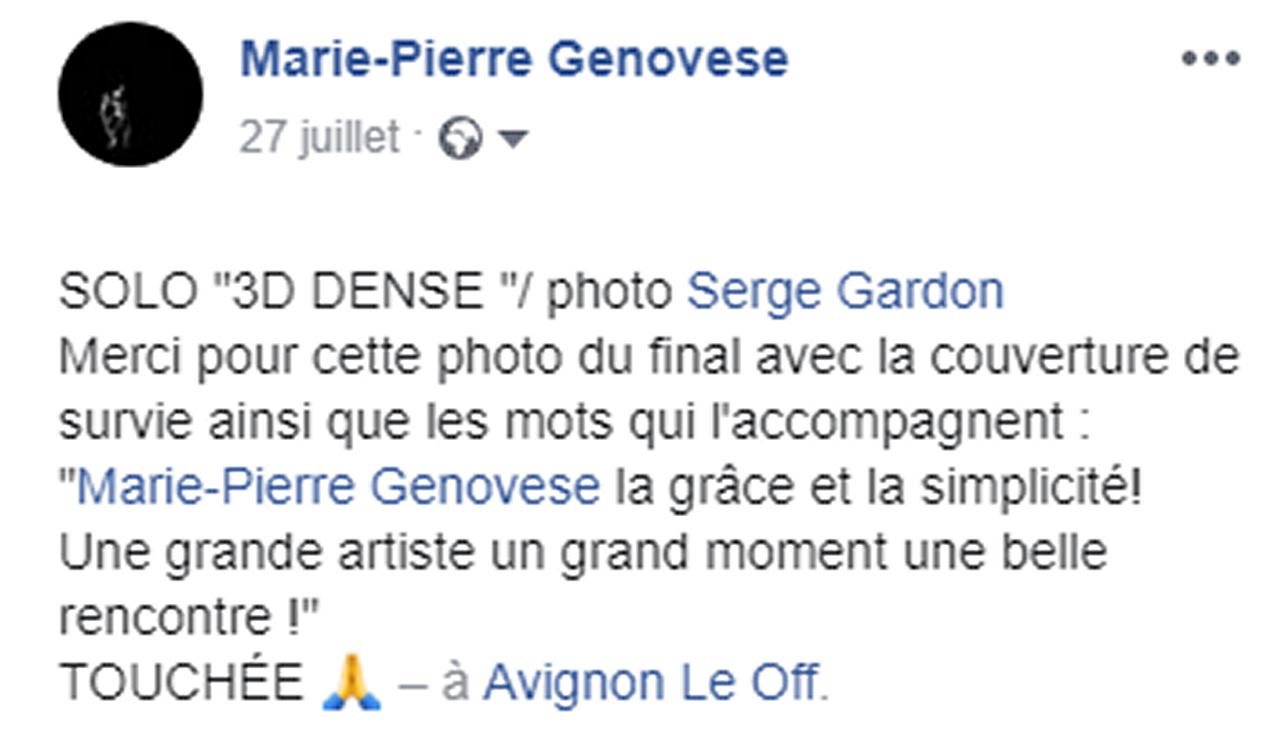 Marie-Pierre Genovese 3DDense et Serge Gardon