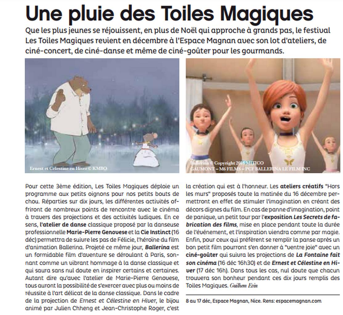 Marie-Pierre Genovese et Les Toiles Magiques à Magnan