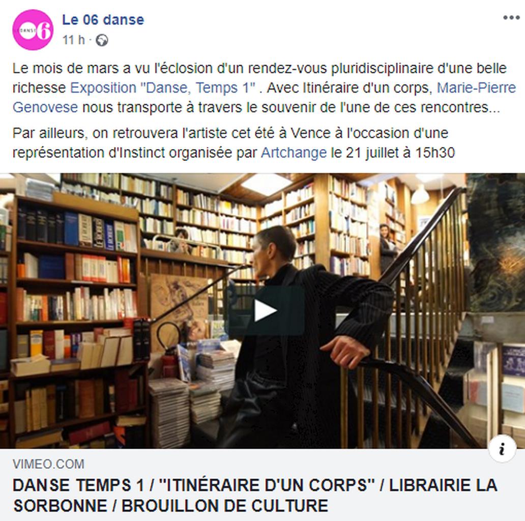 Marie-Pierre Genovese Itinéraire d'un corps Presse