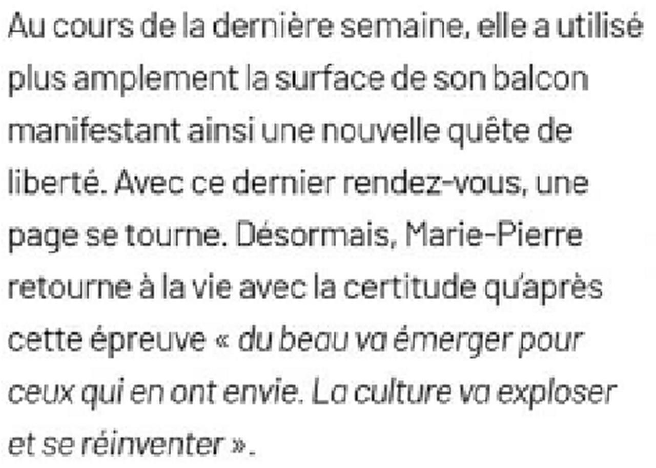 Marie-Pierre Genovese Presse Strada