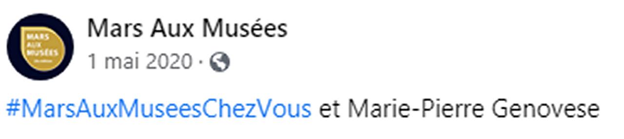 Marie-Pierre Genovese Mamac confinement